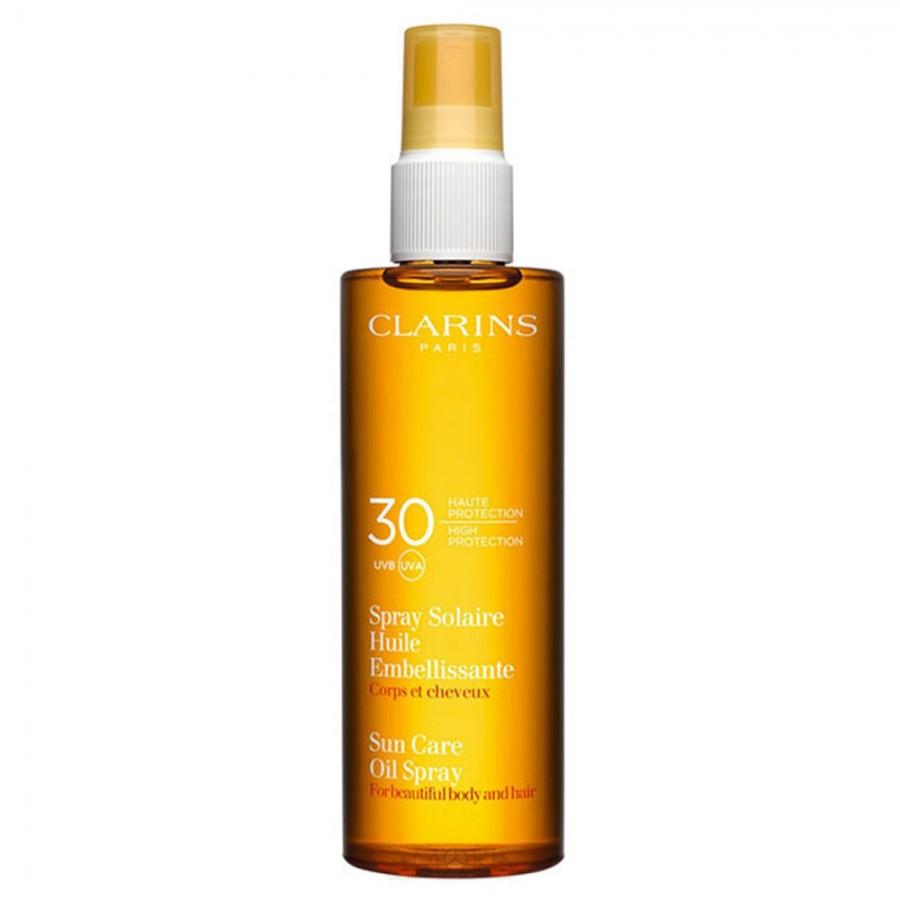 Сухое солнцезащитное масло-спрей для тела и волос