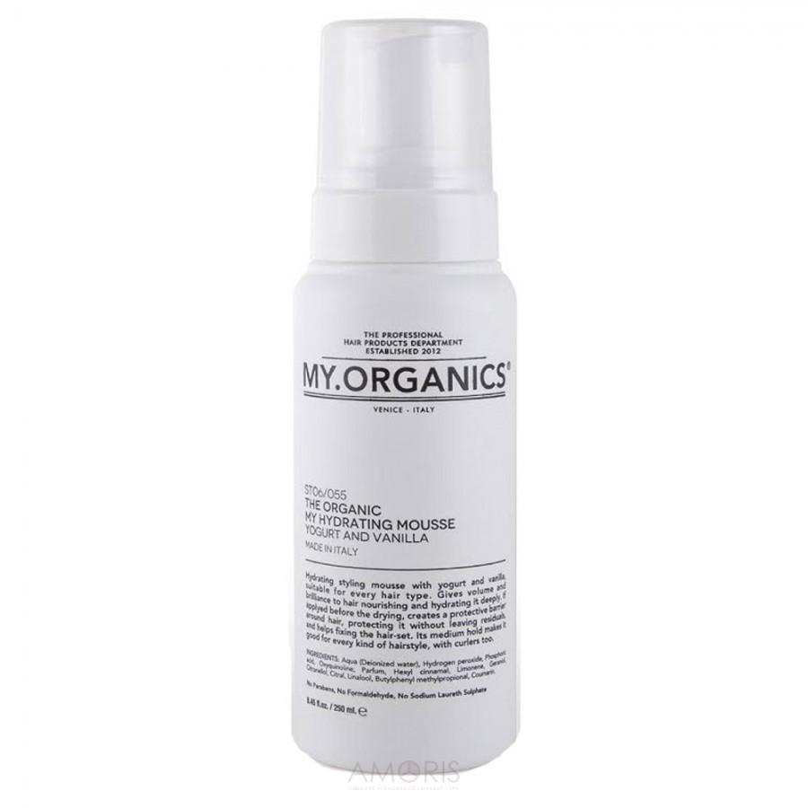 Увлажняющий мусс-термозащита для укладки с протеинами йогурта и маслом ванили для всех типов волос