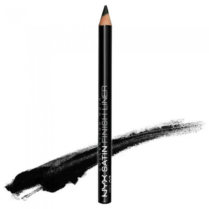 Черный сатиновый карандаш для глаз